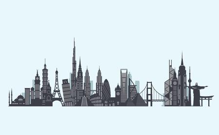 grafiki wektorowej, płaski miasta ilustracji Ilustracje wektorowe