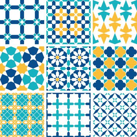iran mosaic: Geometric seamless background, vector graphics