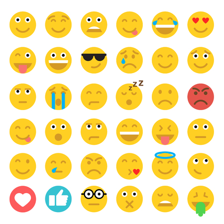 carita feliz: gráficos, icono plana moderna