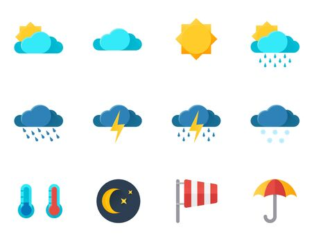 drizzle: graphics, modern flat icon