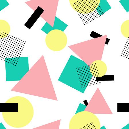 Postmodern style seamless background Illustration