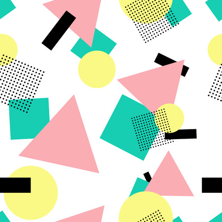 Postmodern style seamless background Stock Illustratie