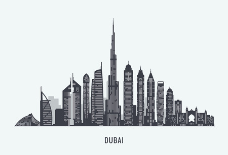 graphics, flat city illustration  イラスト・ベクター素材