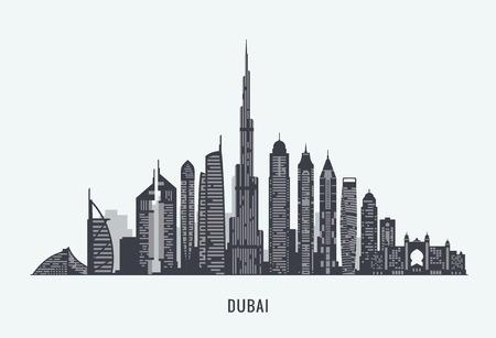 graphics, flat city illustration Stock Illustratie