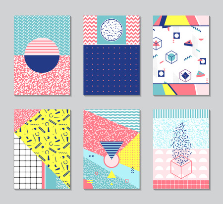 nineties: Retro texture, pattern and geometric elements