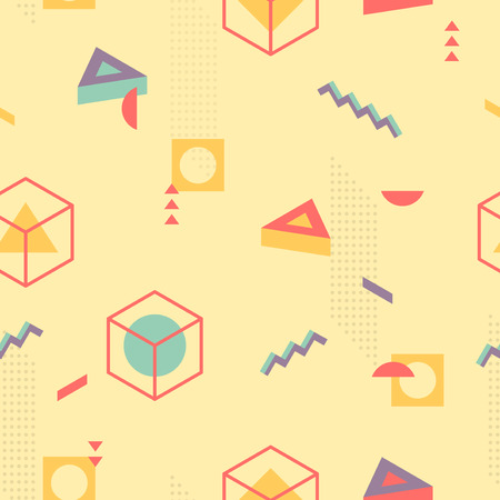 the nineties: 3D Isometric seamless background Illustration