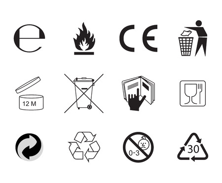 mobius symbol: Flat style icon. Handbook general symbols.