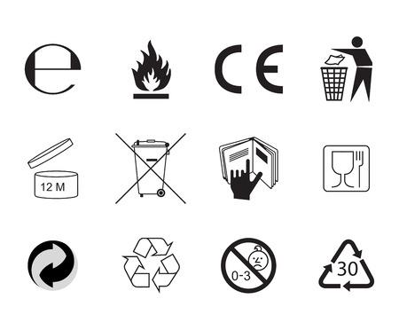 Flat style icon. Handbook general symbols.