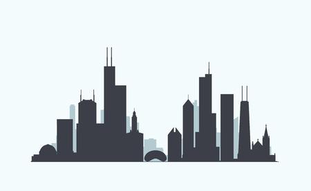 벡터 그래픽, 평면 도시 그림 10 주당 순이익 일러스트