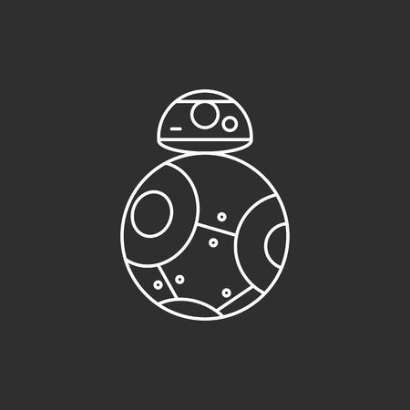 Toy robot icon Illustration