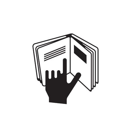 Instruction sign icon.