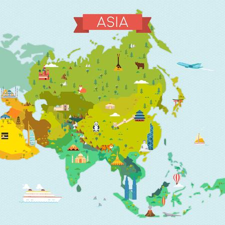 Reisen und Tourismus Hintergrund. Vector flach Illustration Standard-Bild - 71611804