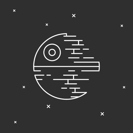 星の駅。宇宙図  イラスト・ベクター素材