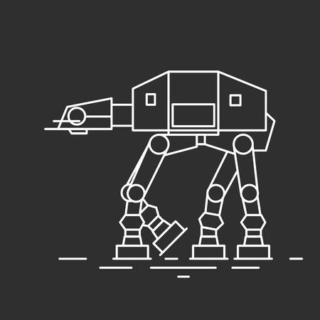 Futuristic tank. Vector illustrations  イラスト・ベクター素材