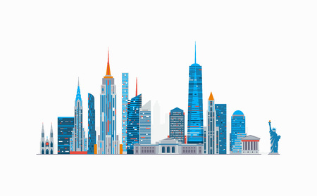 New York abstracte skyline Stock Illustratie