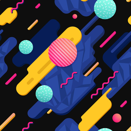 Seamless retro background. Suitable for any print design in 80s style.
