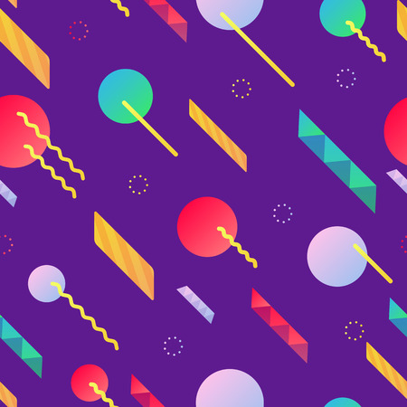 Colorful seamless pattern with dynamic design.