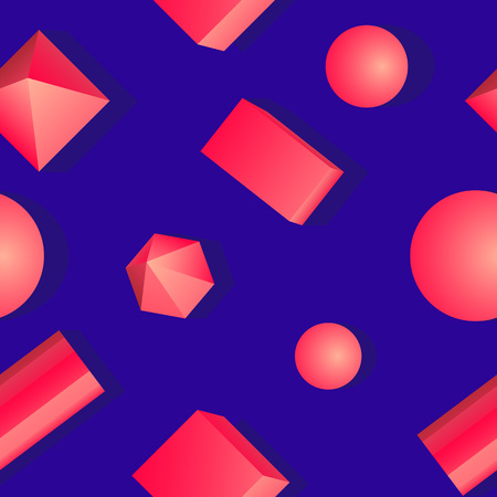 Colorful bright pattern of geometric shapes. Illustration