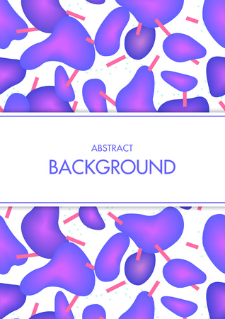 Vectorillustratie met kleurrijke abstracte geometrische vormen op witte achtergrond. Stock Illustratie