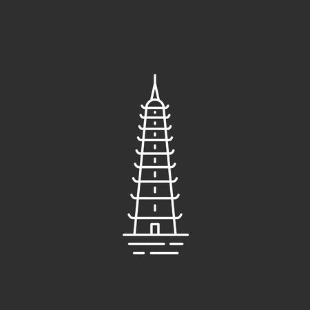 Point de repère du Vietnam. Illustations dans le style de contour Banque d'images - 86736198