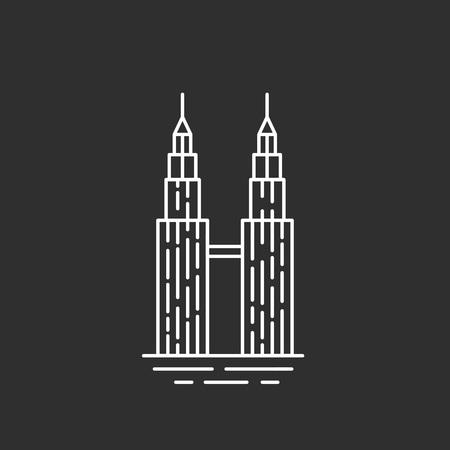 Maleisië bezienswaardigheid. Twin Towers Stockfoto