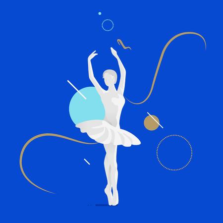 Bela dançarina de balé feminino. Foto de archivo - 90810314