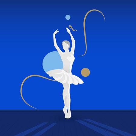 Mooie vrouwelijke balletdanser. Stock Illustratie