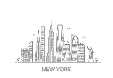 뉴욕의 스카이 라인.