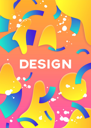 Modern abstract poster cover. Trendy modern design. Applicable for placard, flyer, presentation, brochure, poster, cover and banner. Vector illustration