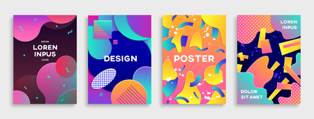 Modern abstract covers set.
