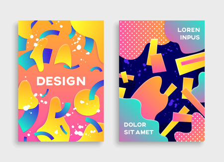 Modern abstract poster Illustration
