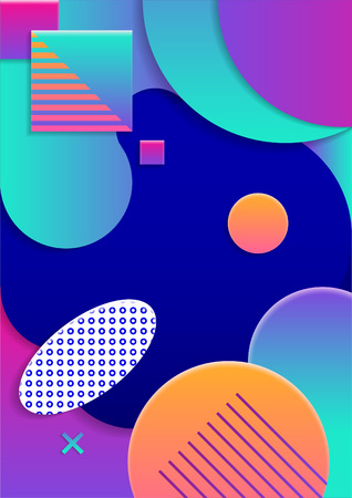 Colored geometric Modern abstract poster Vector illustration.