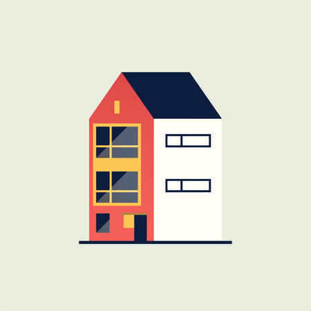 Illustration of a colorful house.