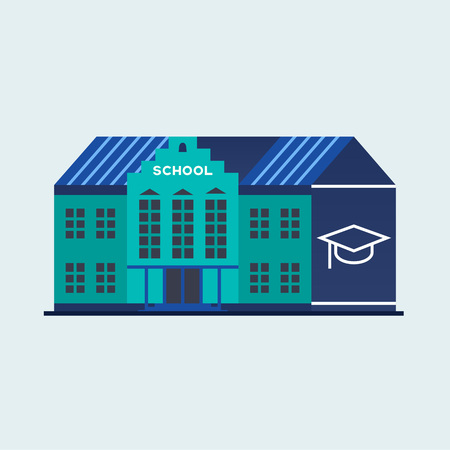 School and education. Illustration
