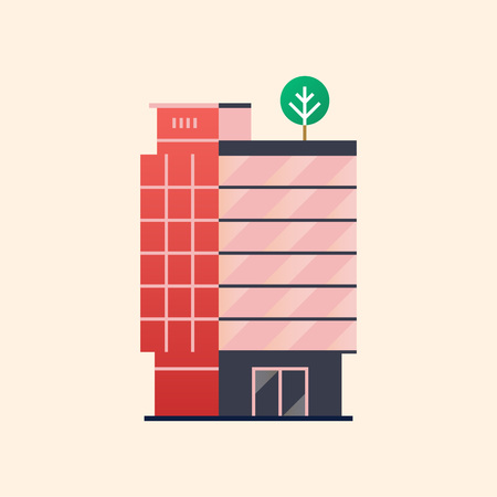 Illustration of an office building. Archivio Fotografico - 97896337