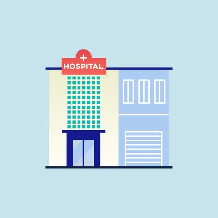 City hospital building. Vector illustration. 向量圖像