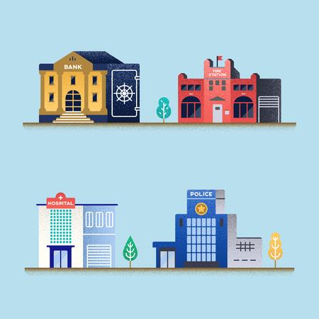 Set of buildings.