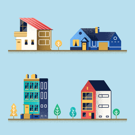 Set of houses. Stockfoto - 99710711