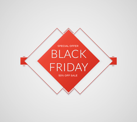 Black Friday sale banner. Abstract vector black friday sale layout background. Vector illustration.