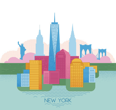 New York skyline. Travel and tourism background. Stock Photo - 111948396