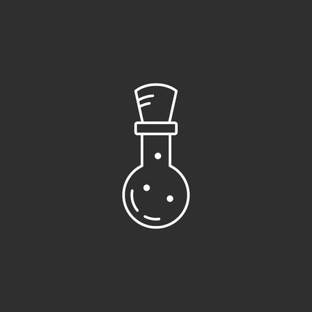 Magic potion. Magic vector icon. Wizard equipment. Line style