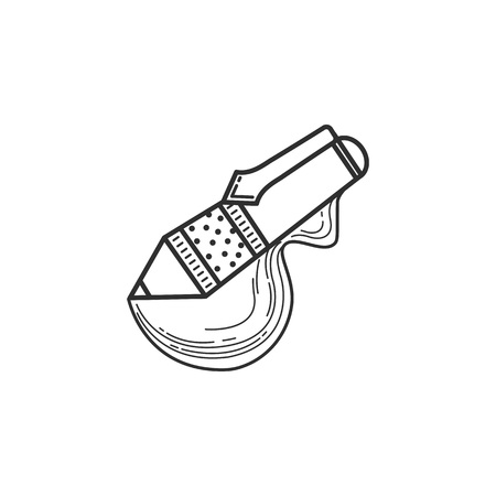 Pen line art icon.The signature icon. Vector illustration Ilustração