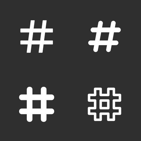 Hashtag icons set.