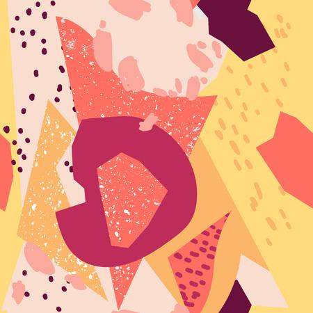 Creative Seamless pattern. Design for poster, postcard, invitation, placard brochure flyer