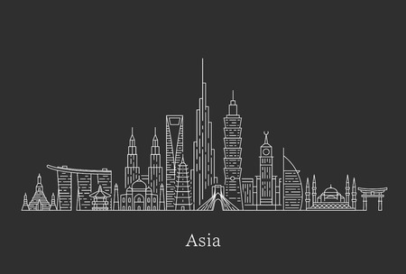 Asia skyline. Travel and tourism background. Banque d'images - 120174978