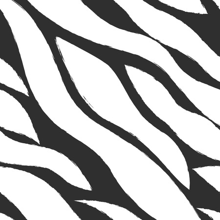 Geometric pattern with wavy stripes. Vector seamless pattern.