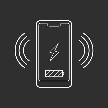 Smartphone wireless charging icon.