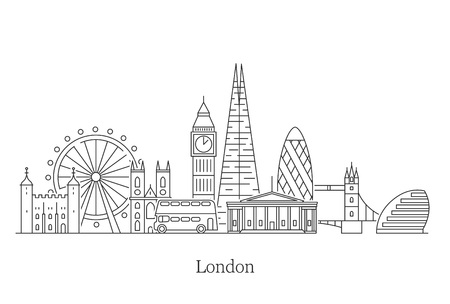 Horizonte de la ciudad de Londres.