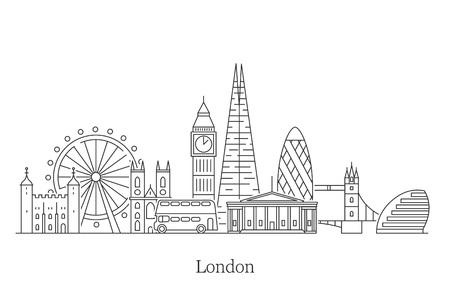 Panoramę miasta Londyn.