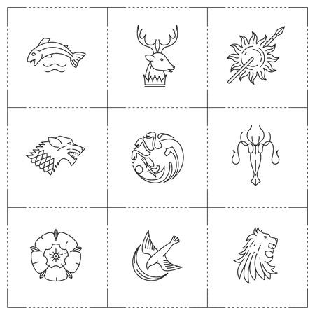 Great kingdoms houses heraldic. Archivio Fotografico - 120175037